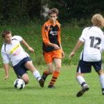 N. Vasilaras kämpft um jeden Ball